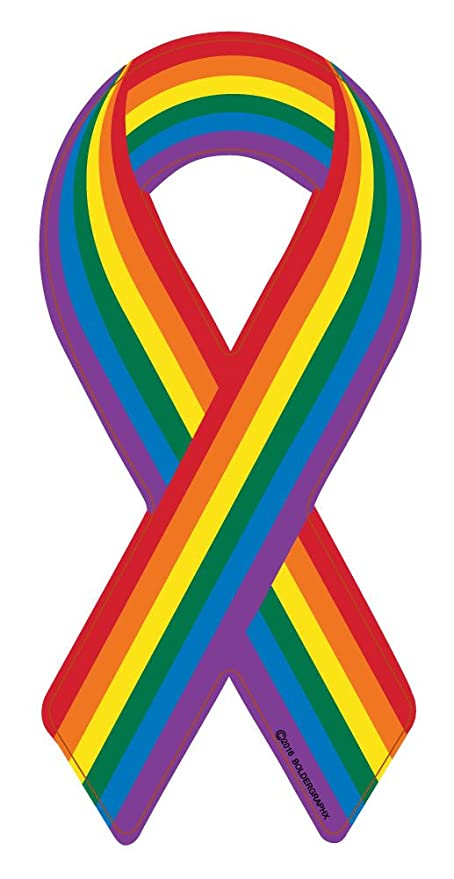 Amazon.com: BOLDERGRAPHX 2062 GAY PRIDE Awareness Rainbow Ribbon 7