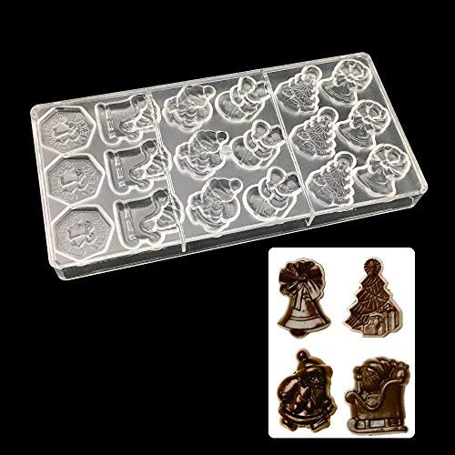Chocolate Polycarbonate Mold - Santa Claus Chocolate Molds Christmas Day Shape Polycarbonate Mold Pc Plastic Festival Tree Candy - Star Wars