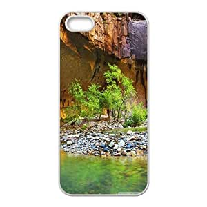 Canyon with Little River Stones IPhone 5,5S Cases, Iphone 5s Cases for Teen Girls Cheap Cheap Okaycosama - White