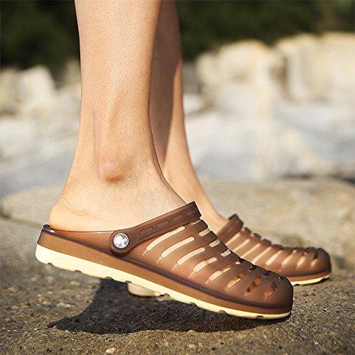 Buco scarpa Uomini sandali estate traspirante sandali Uomini Tempo libero scarpa quotidiano Tempo libero sandali alunno Spiaggia scarpa Uomini ,Marrone ,US=10,UK=9.5,EU=44,CN=46