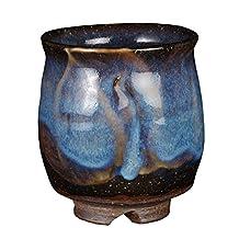 Ryumon 3.3inch JAPANESE TEA CUP Brown Ceramic Made in Japan