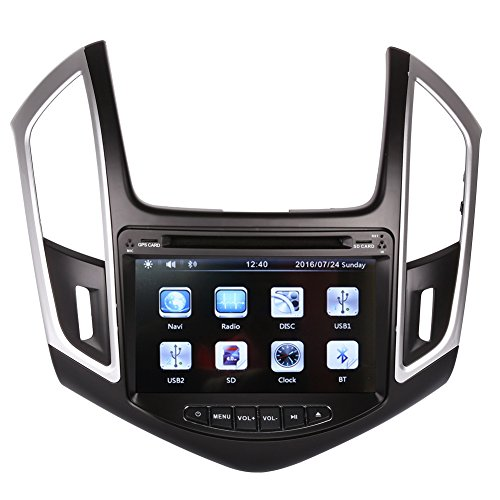 8 Inch Touch Screen Car GPS Navigation for CHEVROLET CRUZE 2013-2016 Stereo DVD Player Video Radio Audio Bluetooth Steering Wheel Control AUX IN+Free Rear View Camera+Free GPS Map of USA (Chevy Cruze Gps Radio compare prices)