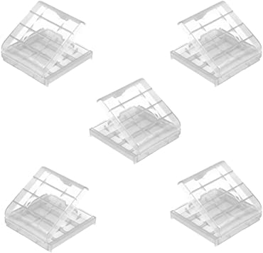 Demarkt 5X Nuevo Bateria Box plastico Cubierta de la Caja de Almacenamiento Holder para baterias AAA AA: Amazon.es: Electrónica