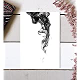 Zen Wall Art, Zen Art, Smoke Print, Smoke Art, Abstract Art, Minimalist Art, Abstract Print, Abstract Wall Art, Modern Minimalist, Black and White Art, Modern Poster, Minimalist Poster, 8x10