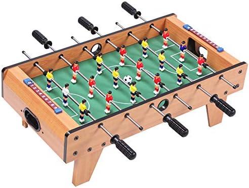Pkjskh 6 Filas de Madera de futbolín 5-13 años Regalo de Juguete for niños y Adultos Juego de Mesa de fútbol for Juegos Familiares Juegos de diversión al Aire Libre Juguetes de