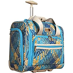 "Nicole Miller Taylor Collection 15"" Under Seat Bag (Woven Teal)"