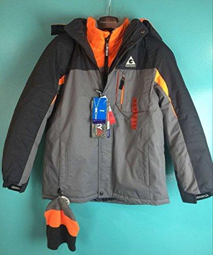 a35622612 Amazon.com  Boys Gerry 3 in 1 Winter Ski Coat w  Hat L-14 16 IRON ...
