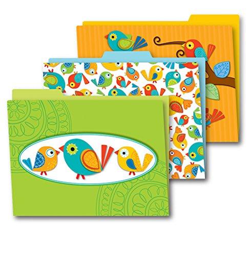 Carson Dellosa Boho Birds File Folders - File Folders Bird