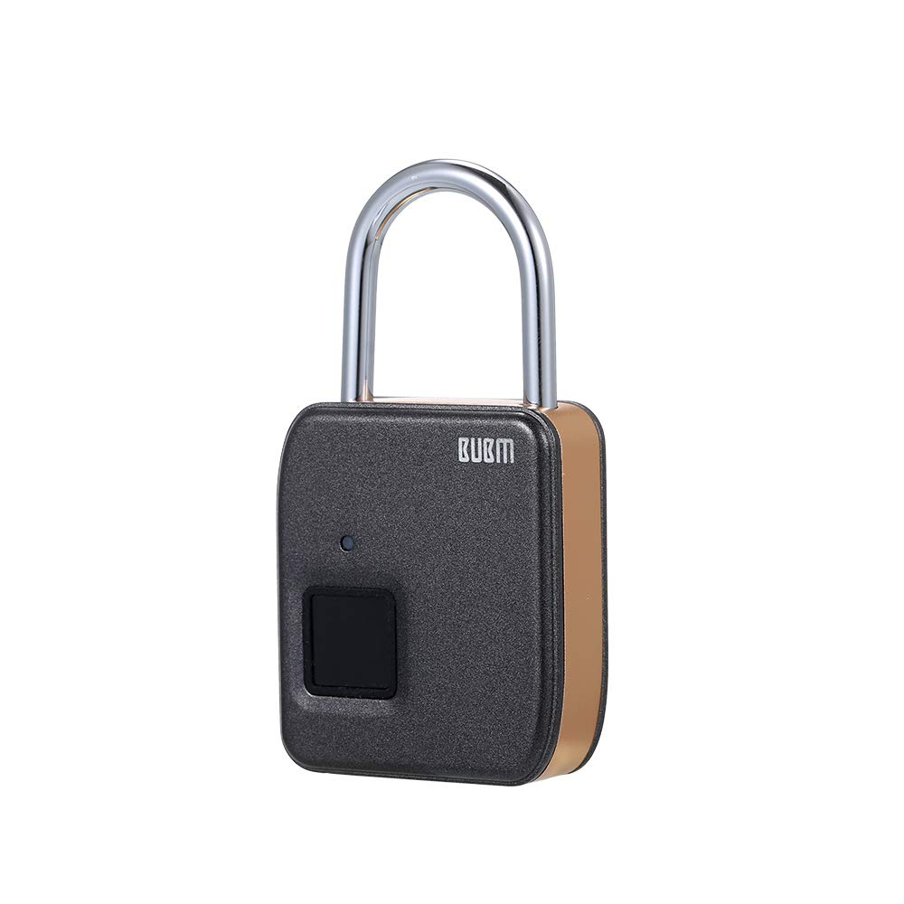 Docooler Fingerprint Padlock Portable Intelligent Lock with 10 Fingerprint Recordings Waterproof USB Rechargeable Luggage and Travel Use Lock BUBM