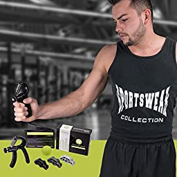 Arm Performance - 5 Pack - Hand Grip Strengthener Finger Forearms Exerciser and Hand Therapy Exercise Ball