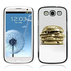 Designer Depo Hard Protection Case for Samsung Galaxy S3 / Golden Hamburger