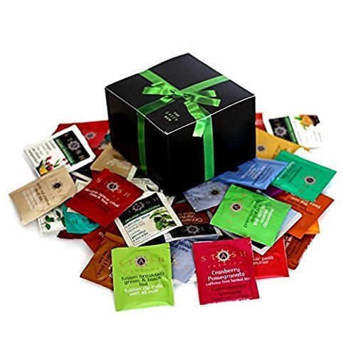 Tea Sampler including Bigelow, Twining, Stash - 90 Different Flavors! In Gift Box (Twinings Tea Boxes)