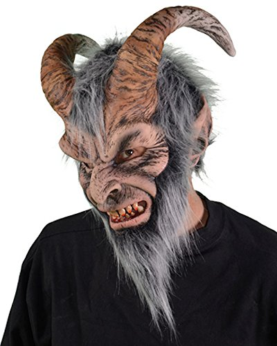 Krampus Costumes - Zagone Krampus Mask, Horned Devil Demon Monster Creature