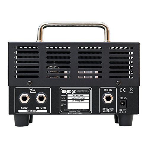 Orange MD20 Micro Dark 20-Watt Mini Guitar Amplifier Head Bundle with Instrument Cable and Austin Bazaar Polishing Cloth by Orange (Image #4)