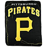 "Pittsburgh Pirates Lightning Design Large Lightweight 50""x60"" Fleece Throw Blanket Baseball"