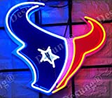 Desung 17'x14' Houston Sports Team Texan Logo Neon Sign Light (MultipleSizes) HD Vivid Printing Technology Man Cave Beer Bar Pub Handmade Real Glass Tube Lamp NT26