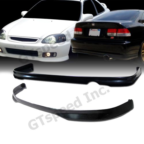 Usdm Type (COMBO SET - 1999-2000 HONDA CIVIC Coupe Sedan Type R Style PU FRONT & REAR Bumper Lip)