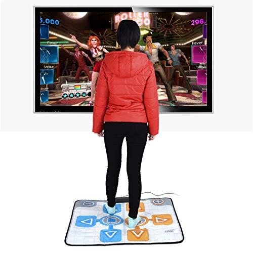 Skiout Double Dance Mats wii Dancing Blanket Dance Music Mixer Electronic Musical Play Mat for Adults/Children Tv