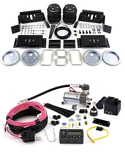Air Lift 57298/72000 Set of Rear Load Lifter 5000 Series w/Wireless AIR Dual Path On-Board Air Compressor System Kit for Ford F-250/F-350/FX4 Super Duty (Duty Pickup Wheel)