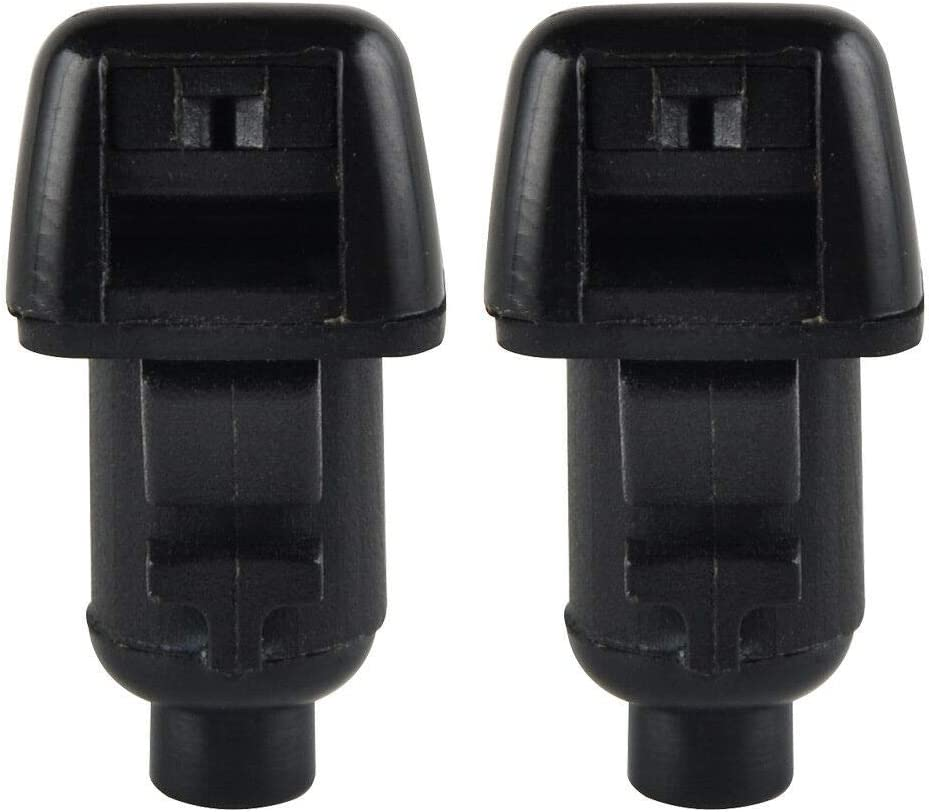 pack of 2 TENSHEN Windshield Washer Nozzles 55157319AA for 2008-2012 Jeep Liberty 2006-2010 Jeep Commander 2007-2011 Dodge Nitro Spray Jet Kit