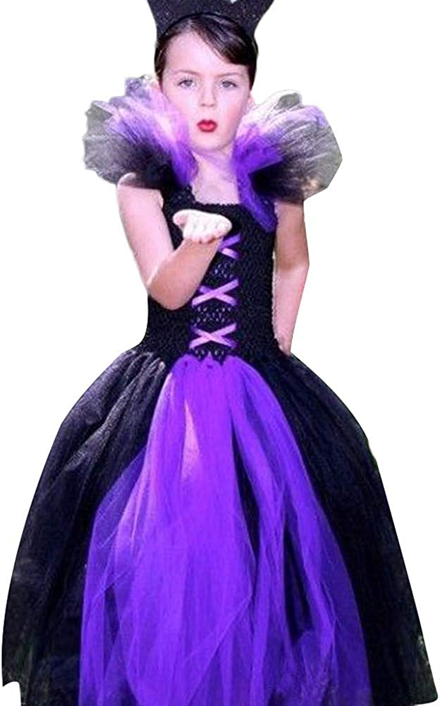 Toddler Kids Baby Girls Princess Halloween Cosplay Tutu Dress Party Clothes