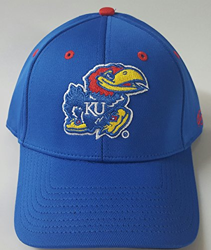 NCAA New Kansas University Jayhawks Embroidered Flex Fit Cap Size M/L by NCAA