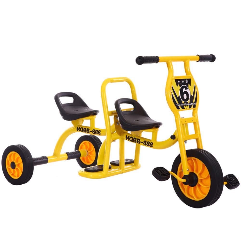 Triciclo para niños doble WYX amarillo