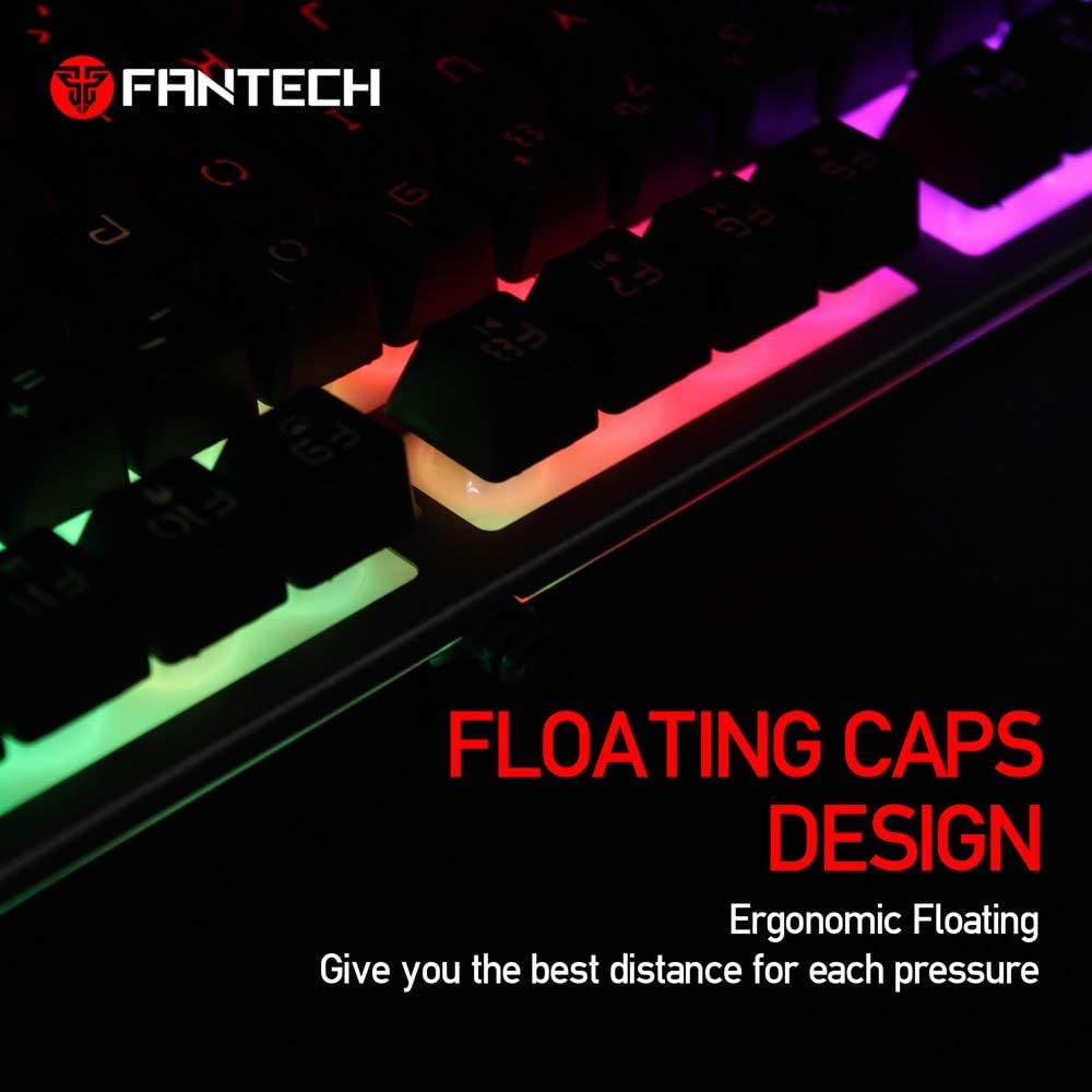 K611 Mechanical Gaming Keyboard Aluminum Frame RGB LED Backlit Linear Quiet Switch Discord Notifications for Windows PC Gamer Desktop Computer