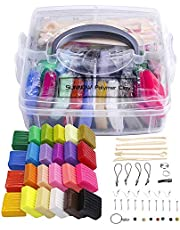 Polymer Clay Set - 24 Colors Oven Bake Polymer Clay DIY Air Dry Clay Soft Polymer Clay Set with Modeling Tools ,Modeling Clay Toy for Kids/Best gifts for kids (Multicolor)