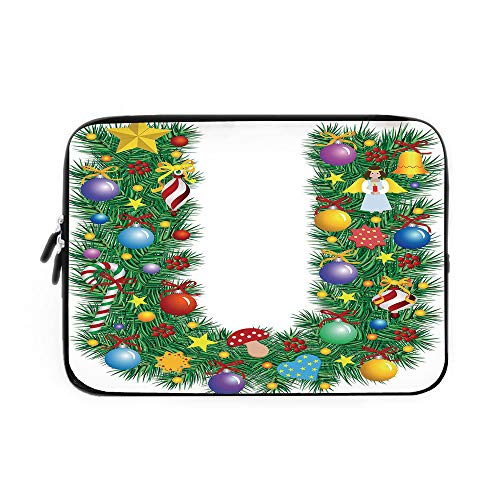 Best Nava Christmas Tree Stands - Letter U Laptop Sleeve Bag,Neoprene Sleeve