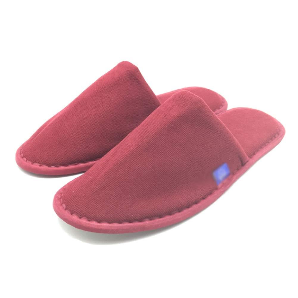 LSS 10 Paia - Pantofole USA E Getta, Pantofole Spa, Unisex Antiscivolo Confortevole per Casa, Hotel O Uso Commerciale Rosso