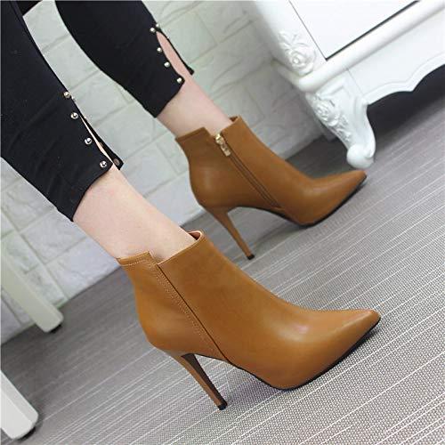 HBDLH Damenschuhe Gut - Schuhe Sexy Spitzen Stiefeln Stiefeln Stiefeln Einfache High Heels Kurze Stiefel Stiefel 10Cm 29b6cd