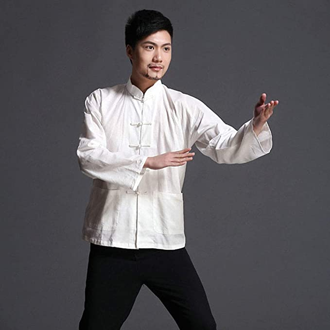 EEKUY Chaqueta de Fitness Bruce Lee, Camisa de Traje Chino ...