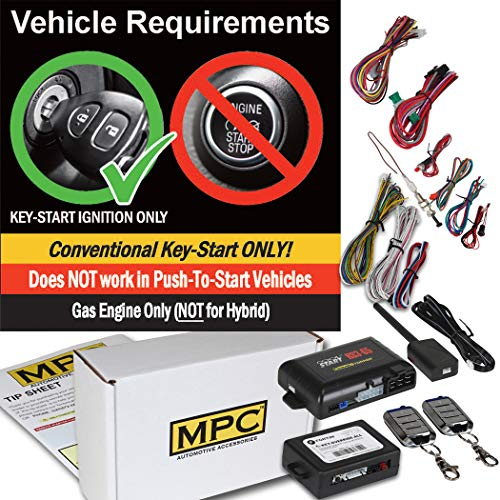 Complete Remote Start with Keyless Entry Kit for 2004-2008 Ford F-150 - Includes Bypass Module - (2) 4 Button Remotes