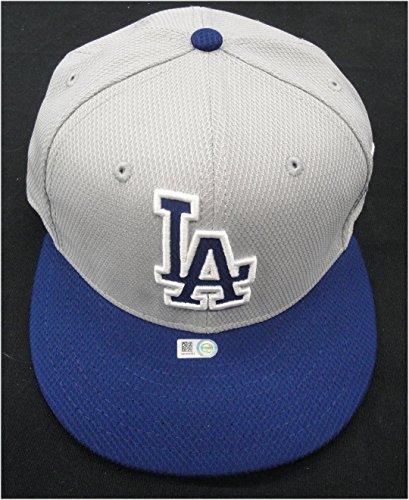 (Scott Van Slyke Dodgers #33 Team issue 2014 Playoffs Baseball Cap Hat Size HZ751)