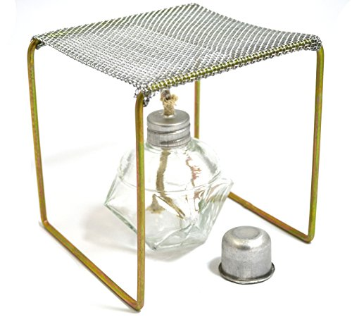 Eisco Labs Alcohol Burner with Burner Stand (Approx. 5''x5''x5'') Starter Set by EISCO (Image #1)