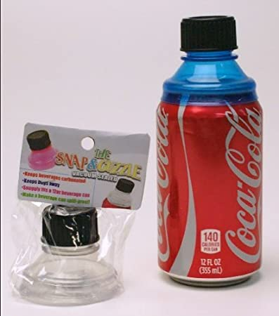 3 pc - The Snap & Guzzle Vacuum sealed, for regular 12oz soda can, no more  spill from soda can