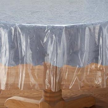 Amazon Com Crystal Clear Tablecloth Cover Vinyl Table