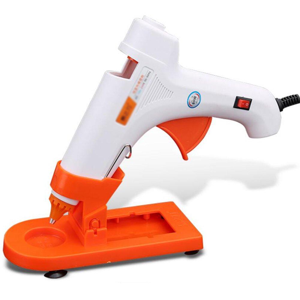 Wly&Home Hot Glue Gun, 80W Industrial Glue Hot Glue, 60 Hot Glue Sticks, DIY Crafts, Packaging And Small Home/Office Repair, White,60Pcs