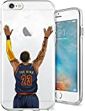 iPhone 6/6s Case, Chrry Cases Ultra Slim [Crystal Clear] [Basketball Player] Soft TPU Case Cover for Apple iPhone 6/6s (4.7) - King James