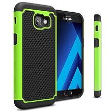 Galaxy A5 2017 Case, CoverON® [HexaGuard Series] Slim Hybrid Hard Phone Cover Case for Samsung Galaxy A5 (2017 Version) A520 - Green / Black