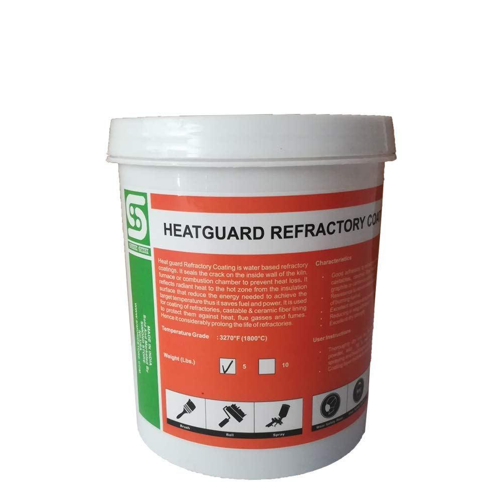 5Lbs. Heat Guard Heat Reflection Coating for Refractory Protection Upto 3270F