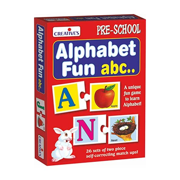 Creative Educational Aids P. Ltd. Alphabet Fun Abc Puzzle (Multi-Color, 52 Pieces)