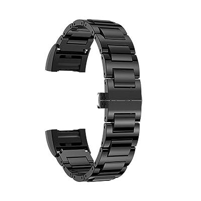 JANLY Bracelet de fermeture en céramique papillon de remplacement pour Fitbit charge 2