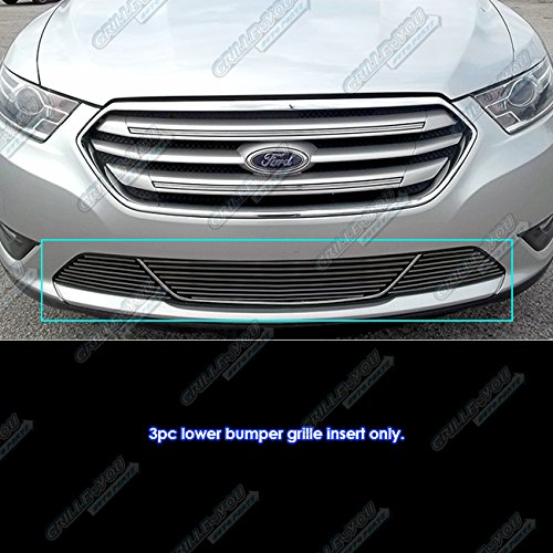 Fits 2013-2017 Ford Taurus All Models with Honeycomb Bumper Black Billet Grille