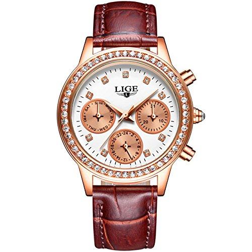 Amazon.com: Reloj De Mujer Quartz Watch Fashion Casual Luxury Relogio Feminino para Damas RE0097: Watches