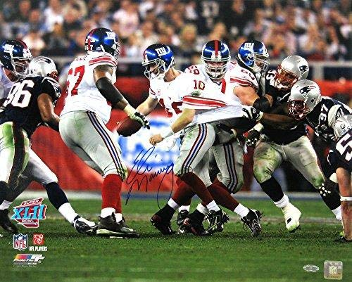 Signed Eli Manning Picture - Iconic Super Bowl XLII 16x20 Steiner - Autographed NFL Photos