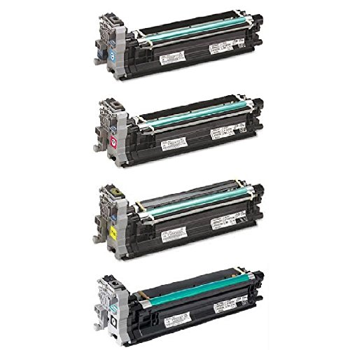 WORLDS OF CARTRIDGES Remanufactured Drum (Print) Unit Replacement for Konica Minolta A031 00F / 05F / 0AF / 0GF (4-Pack: Cyan + Magenta + Yellow + Black) for Use in magicolor 4650/5550 / 5570