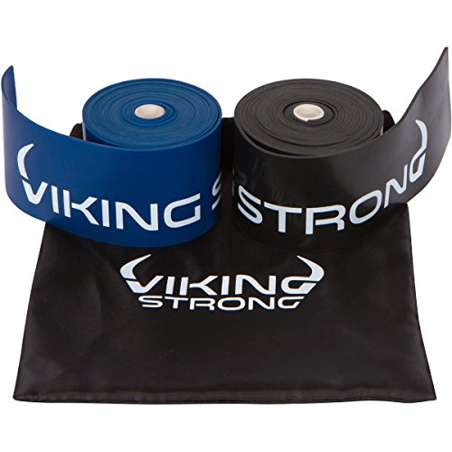 Viking Strong Floss Bands for Muscle Compression, Flossing band, Mobility & Recovery - 2 Pack Compression bands w/Case,, Free eGuide Improve Movement, Circulation & Soreness
