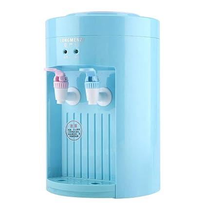 Dispensador de agua - Mini escritorio eléctrico de carga superior Máquina de dispensador de agua hirviendo 220V azul rosado (Color : Azul)
